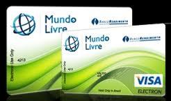 WWW.CARTAOMUNDOLIVRE.COM.BR, CARTÃO MUNDO LIVRE, BANCO RENDIMENTO