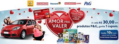 WWW.CARTAOAMERICANAS.COM.BR/PG, PROMOÇÃO P&G AMERICANAS