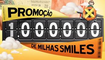 WWW.1MILHAODEMILHAS.COM.BR, PROMOÇÃO 1.000.000 DE MILHAS SMILES GOL