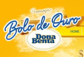WWW.BOLODEOURODONABENTA.COM.BR, PROMOÇÃO DONA BENTA BOLO DE OURO