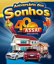 WWW.ASSAI40ANOS.COM.BR, PROMOÇÃO ASSAÍ ANIVERSÁRIO 40 ANOS