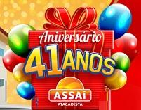 WWW.ANIVERSARIOASSAI.COM.BR, PROMOÇÃO ASSAÍ 41 ANOS